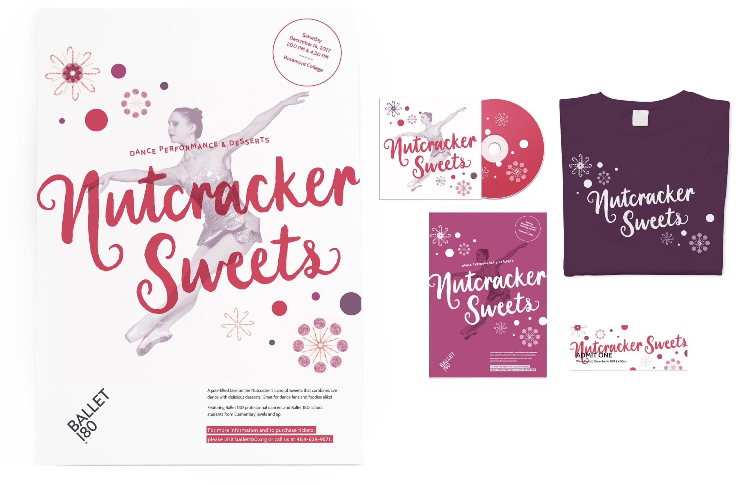 Ballet 180 Nutcracker Sweets Event Collateral