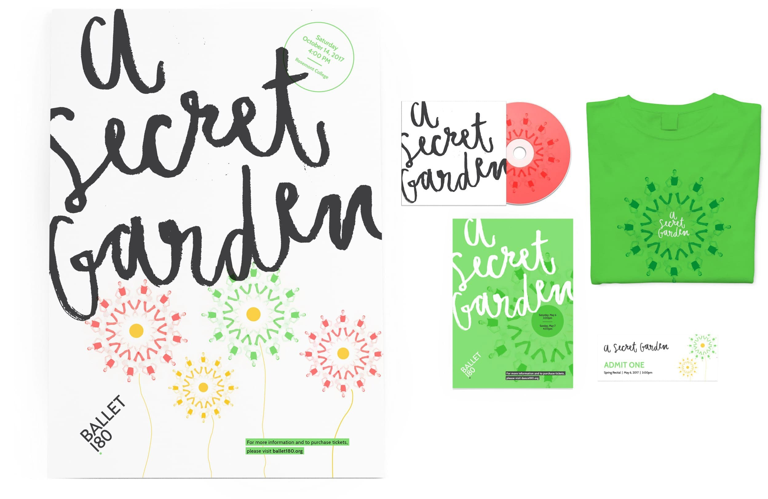 Ballet 180 Secret Garden Event Collateral