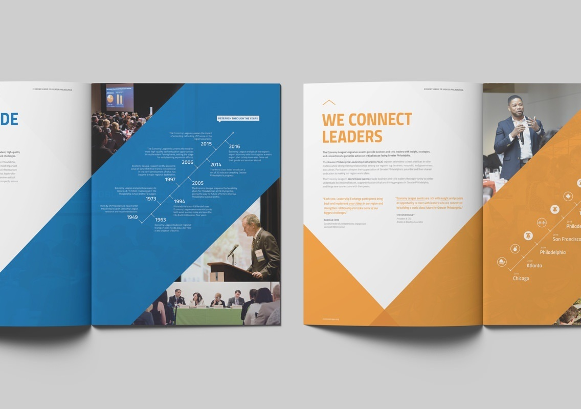 Economy League Brochure Connect Leaders Spread