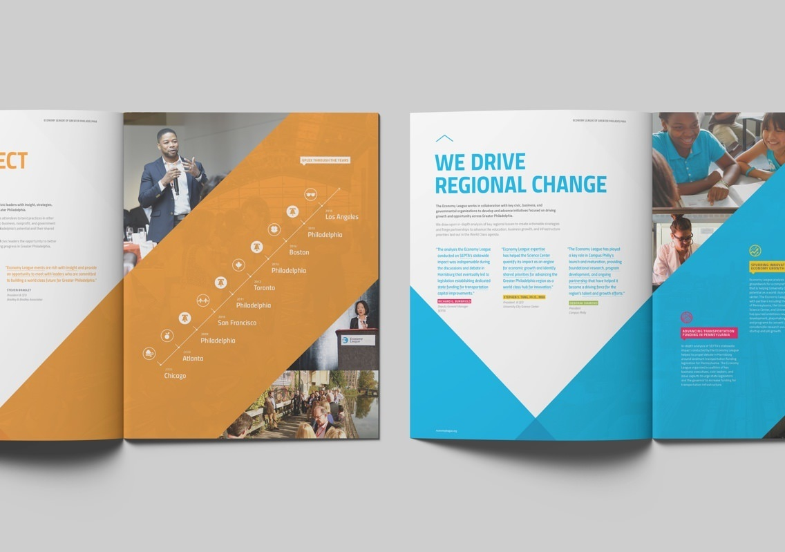 Economy League Brochure Drive Regional Change Spread