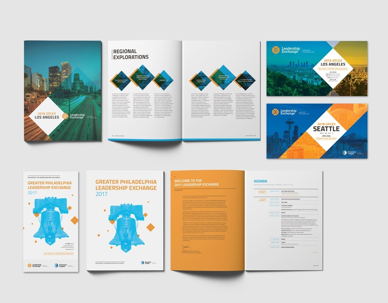 Economy League's GPLEX Event Print Collateral