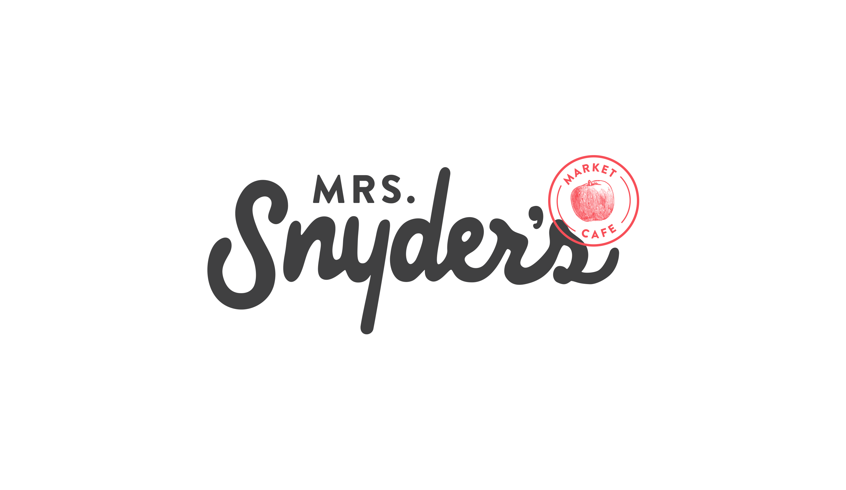 Mrs Snyder's Logo in Black and Red