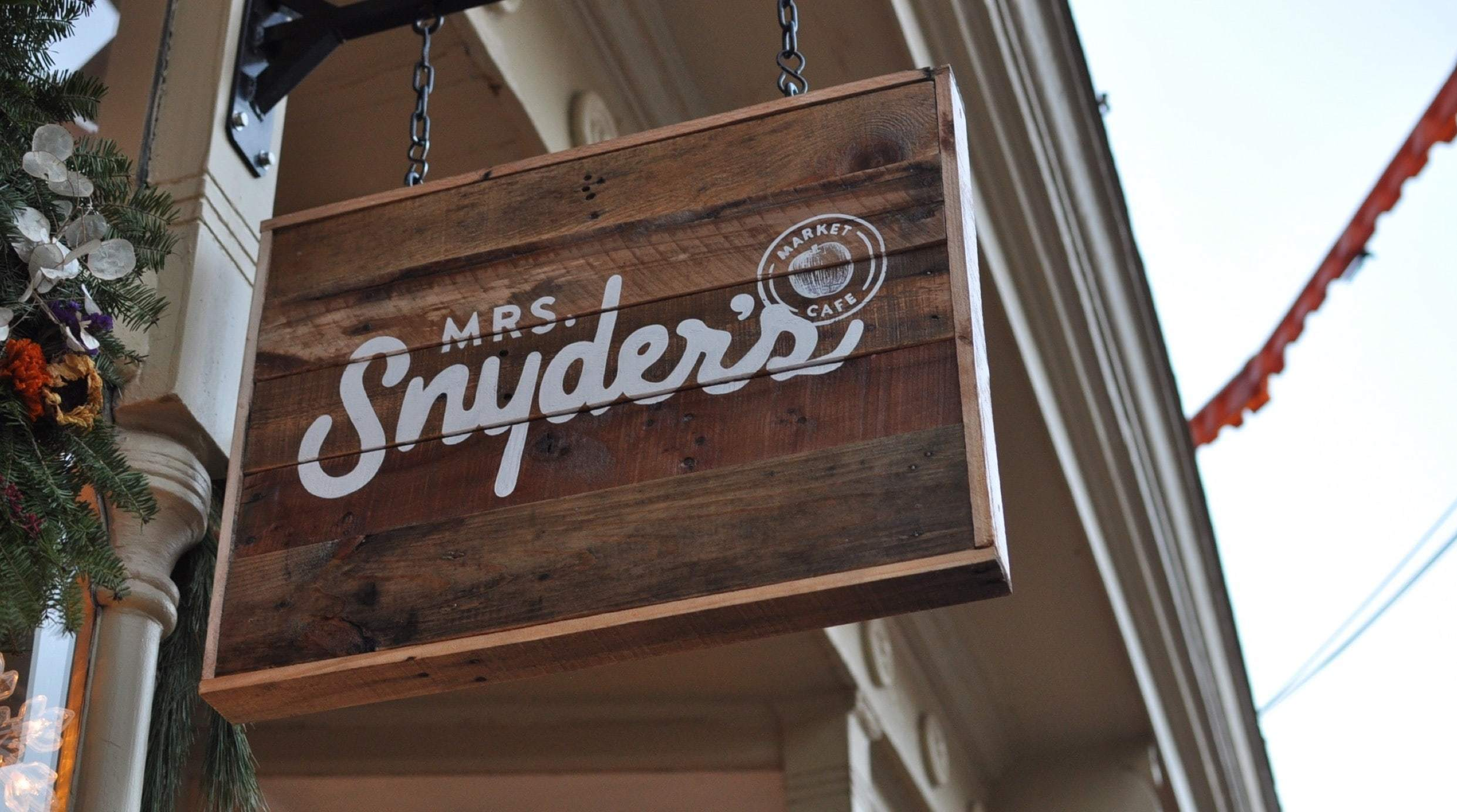 Mrs Snyder's Outdoor Hanging Sign