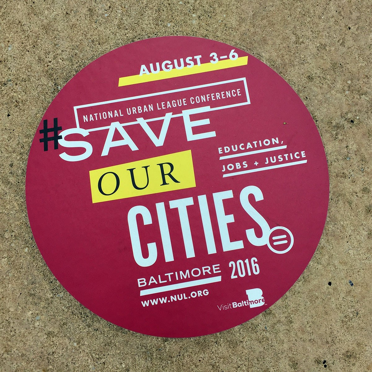 Nul Conference Baltimore Sidewalk Signage
