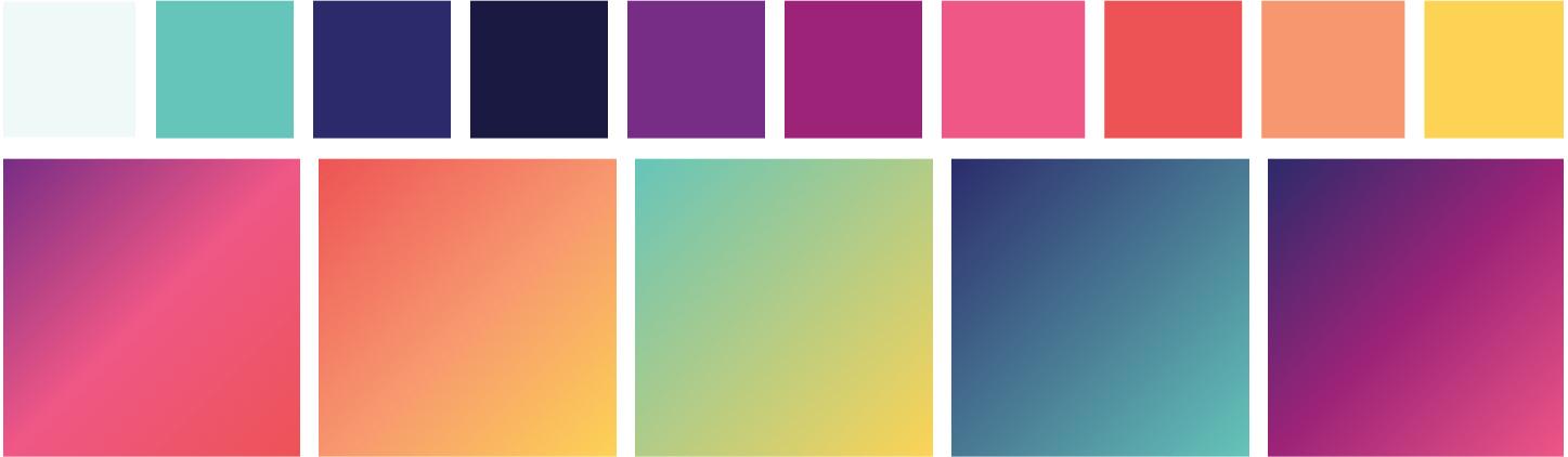 Penn med website color palette