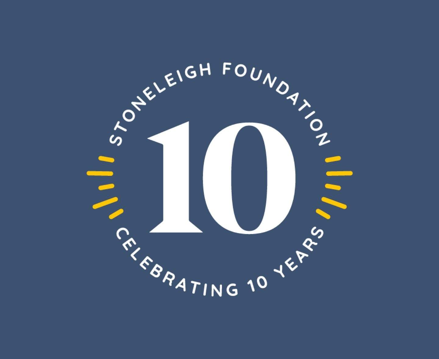 Stoneleigh 10 Year Logo Blue