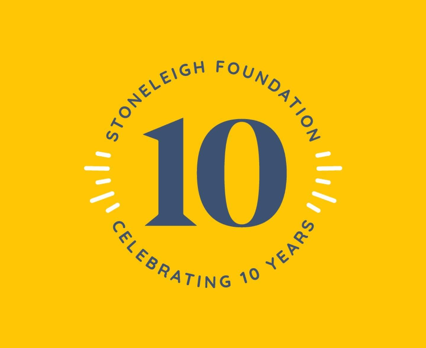 Stoneleigh 10 Year Logo Yellow