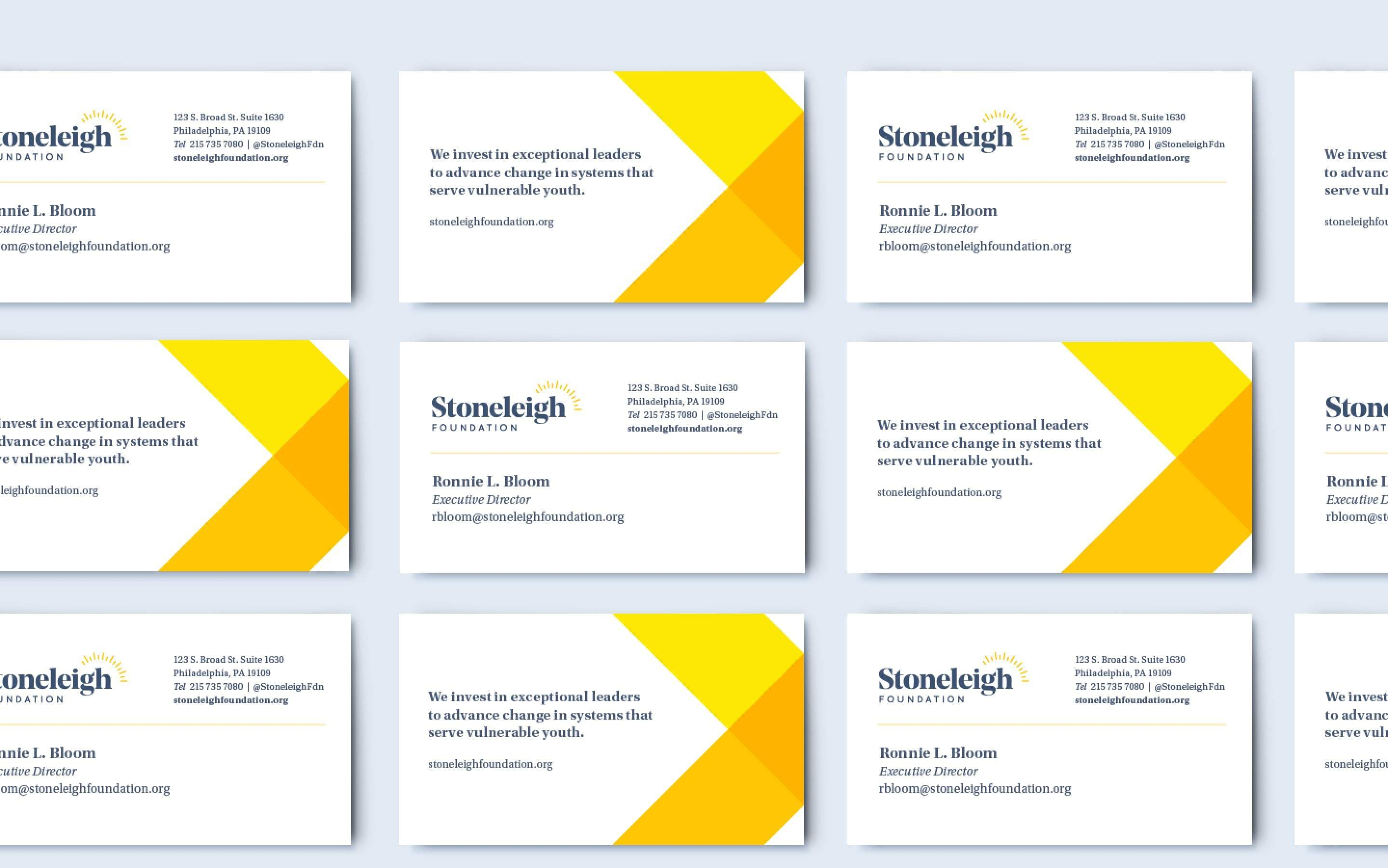 Stoneleigh Business Cards Fullwidth