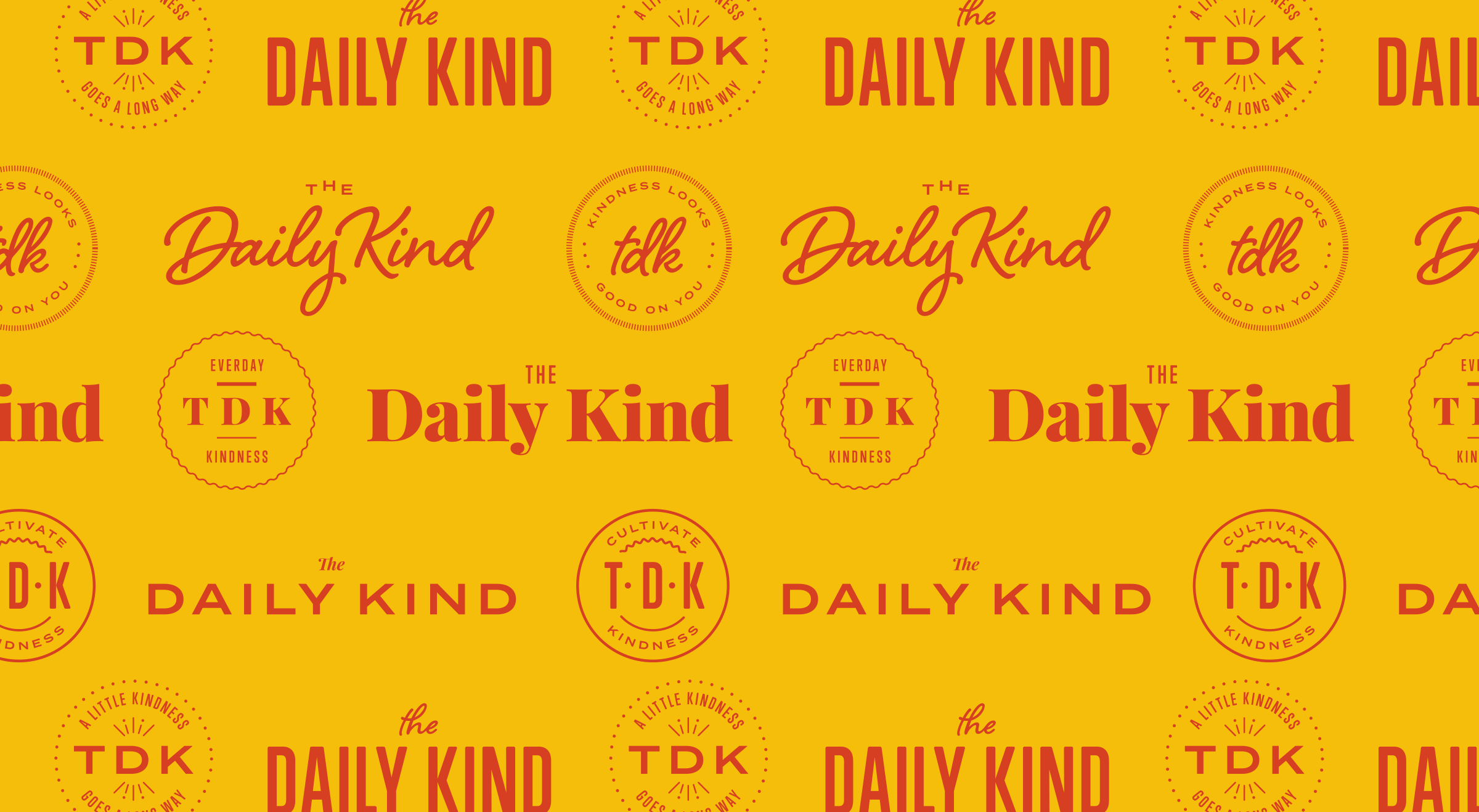 The Daily Kind Logos Gold Hero Image